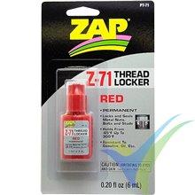 ZAP PT-71 permanent threadlocker red, 6ml