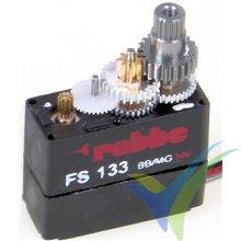 Servo digital Robbe FS 133 BB MG HV, 5.3g, 1.3Kg.cm, 0.08s/60º, 4.8V-7.4V