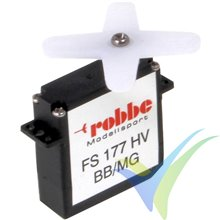 Servo digital Robbe FS 177 BB MG HV, 9.4g, 2.6Kg.cm, 0.07s/60º, 4.8V-7.4V
