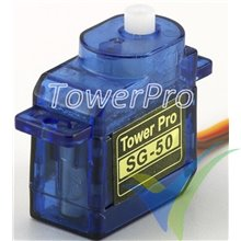 Servo digital TowerPro SG50, 5g, 0.6Kg.cm, 0.1s/60º, 4.8V