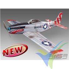 Kit avión MS Composit Mustang P51H EPP, 890mm, 320g