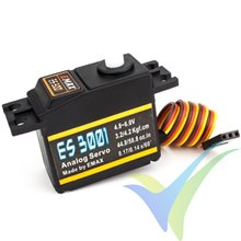 Servo analógico EMAX ES3001, 37g, 4.2Kg.cm, 0.14s/60º, 4.8V-6V