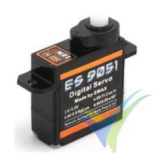 Servo digital EMAX ES9051, 4.1g, 0.8Kg.cm, 0.09s/60º, 4.8V