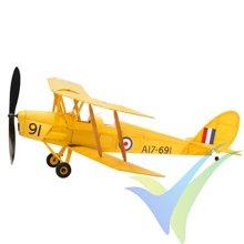 Kit avión gomas The Vintage Model Company de Havilland DH.82 Tiger Moth, 460mm