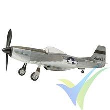Kit avión gomas The Vintage Model Company North American P-51D Mustang, 460mm