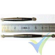 Tensor precisión latón M3 para cable trenzado, G-Force, 2 uds