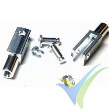 Quick link de aluminio con rosca M3 - 2 unidades