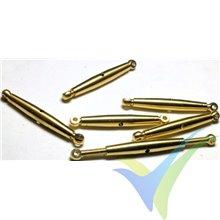 Tensor latón M2.5 MP JET 2851 para cable trenzado, 3.1g, 6 uds