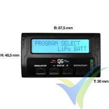 Cargador Yuki Model Q6 mini Smart, 300W, 10-26V DC, 1S-6S, 12A