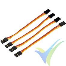 Yuki Model servo patch cable male-male 10cm gold connector, 4 pcs