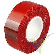 Cinta adhesiva doble cara Everglue 20mm x 1.5m, acrílica extra fuerte