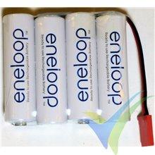 Batería receptor Ni-Mh Eneloop AA 4.8V 1900mAh plana, 109g