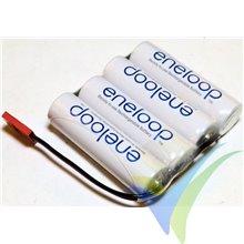 Batería receptor Ni-Mh Eneloop AA 4.8V 1900mAh plana