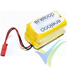 Batería receptor Ni-MH Eneloop AA 4.8V 1900mAh cuadrada, 109g