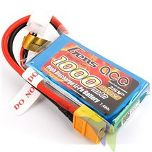 Batería LiPo Gens ace 1000mAh (7.4Wh) 2S1P 25C 68g XT60