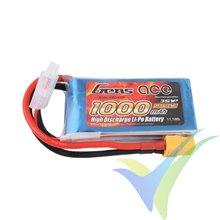 Batería LiPo Gens ace 1000mAh (11.1Wh) 3S1P 25C 96g XT60