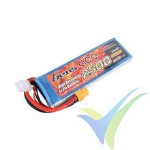 Batería LiPo Gens ace 2500mAh (18.5Wh) 2S1P 25C 176g XT60