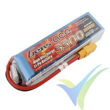 Gens ace LiPo battery 3300mAh (73.26Wh) 6S1P 25C 498g XT90