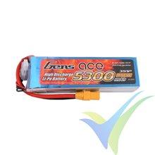 Batería LiPo Gens ace 5300mAh (58.83Wh) 3S1P 30C 415g XT90