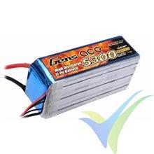 Gens ace LiPo battery 5300mAh (117.66Wh) 6S1P 30C 700g EC5
