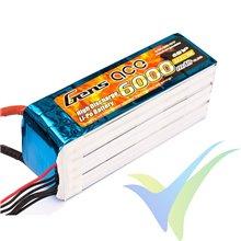 Batería LiPo Gens ace 6000mAh (133.2Wh) 6S1P 35C 875g EC5