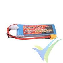 Batería LiPo Gens ace 1600mAh (11.84Wh) 2S1P 40C 106g XT60