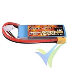 Gens ace LiPo battery 1800mAh (13.32Wh) 2S1P 40C 123g XT60