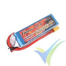 Batería LiPo Gens ace 2200mAh (24.42Wh) 3S1P 45C 189g XT60