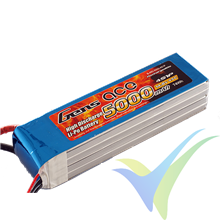 Batería LiPo Gens ace 5000mAh (74Wh) 4S1P 45C 550g EC5