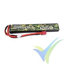 Batería LiPo Gens ace Airsoft 1250mAh (9.25Wh) 2S1P 25C 64g Deans