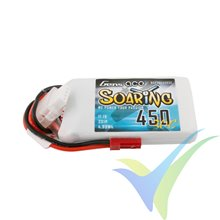 Batería LiPo Gens ace Soaring 450mAh (5Wh) 3S1P 30C 47g JST-SYP