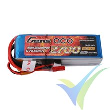 Batería LiPo Gens ace 2700mAh (29.97Wh) TX 3S1P 200g FUTABA/JST-XHR/JST-SYP
