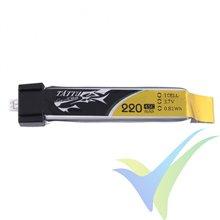 Batería LiPo Tattu - Gens ace 220mAh (0.81Wh) 1S1P 45C 5.5g Molex Eflite