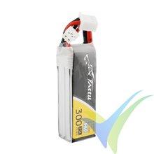 Batería LiPo Tattu - Gens ace 300mAh (2.22Wh) 2S1P HV 75C 17g JST-XH