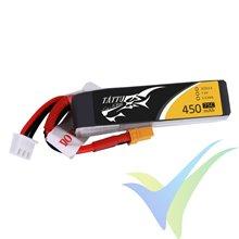 Batería LiPo Tattu - Gens ace 450mAh (3.33Wh) 2S1P 75C 29g XT30