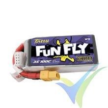 Batería LiPo Tattu Funfly - Gens ace 1300mAh (14.43Wh) 3S1P 100C 113g XT60