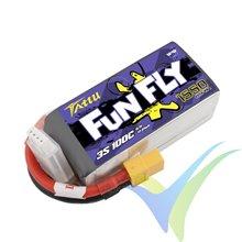 Batería LiPo Tattu Funfly - Gens ace 1550mAh (17.21Wh) 3S1P 100C 140g XT60