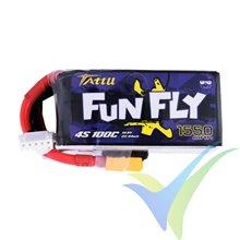 Batería LiPo Tattu Funfly - Gens ace 1550mAh (22.94Wh) 4S1P 100C 180g XT60