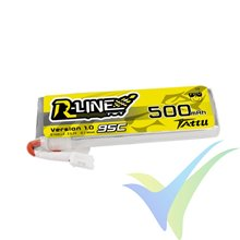 Batería LiPo Tattu R-Line - Gens ace 500mAh (1.85Wh) 1S1P 95C 15g JST-PHR