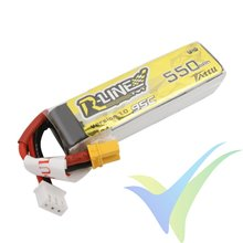 Batería LiPo Tattu R-Line - Gens ace 550mAh (4.07Wh) 2S1P 95C 30g XT30