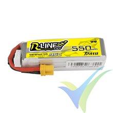 Batería LiPo Tattu R-Line - Gens ace 550mAh (6.11Wh) 3S1P 95C 43g XT30