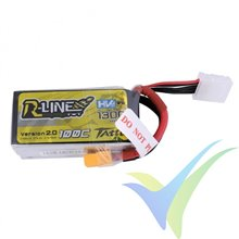 Tattu R-Line - Gens ace LiPo battery 1300mAh (19.24Wh) 4S1P HV 100C 163g XT60