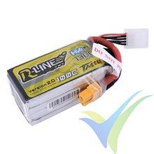 Batería LiPo Tattu R-Line - Gens ace 1300mAh (19.24Wh) 4S1P HV 100C 163g XT60
