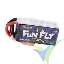 Batería LiPo Tattu Funfly - Gens ace 1300mAh (19.24Wh) 4S1P 100C 149g Deans
