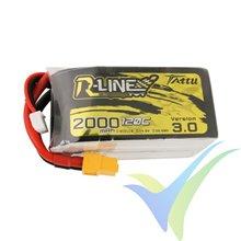 Batería LiPo Tattu R-Line V3.0 - Gens ace 2000mAh (29.60Wh) 4S1P 120C 217g XT60