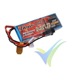Batería LiPo Gens ace 1400mAh (10.36Wh) TX 2S1P 1C 57g JR