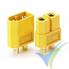 Conector XT60, metalizado oro, macho y hembra