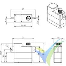 MKS HV6110 digital servo, 10g, 3.47Kg.cm, 0.1s/60º, 6V-8.4V