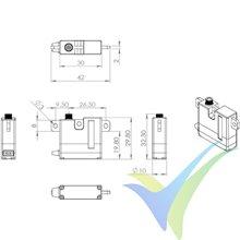 MKS HV6130H digital servo, 22.5g, 8.26Kg.cm, 0.1s/60º, 6V-8.4V