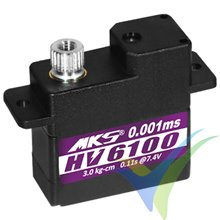 Servo digital MKS HV6100, 10g, 3.4Kg.cm, 0.1s/60º, 6V-8.4V
